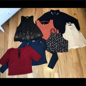 Lot of Hollister sz Small tops floral embellished